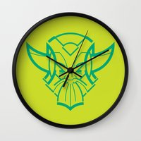 viking Wall Clocks featuring Viking by Martin Laksman