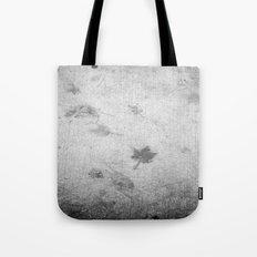 Leaf markings on cement  Tote Bag