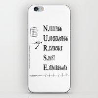 nurse iPhone & iPod Skins featuring Nurse Description by Ginkelmier