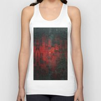 rothko Tank Tops featuring Ruddy by Aaron Carberry