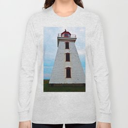 Lighthouse of Cape Egmont and the Strait Long Sleeve T-shirt