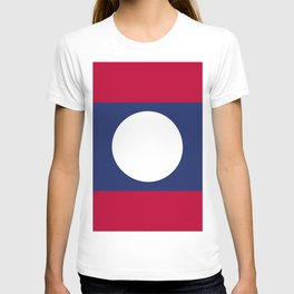 Laos flag emblem T-shirt