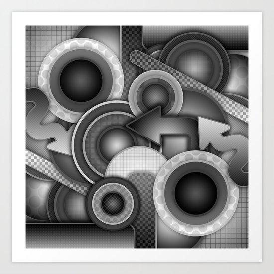 Monochrome Mayhem  Art Print