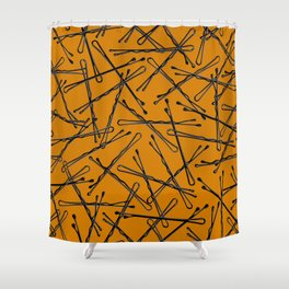 Bobby Pins Scattered Shower Curtain