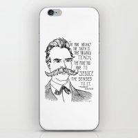nietzsche iPhone & iPod Skins featuring Friedrich Nietzsche by Alexandra Ensign