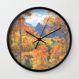 Aspen in the Uncompahgre Range, Colorado Wall Clock