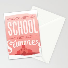 Bye school, hello summer Stationery Cards