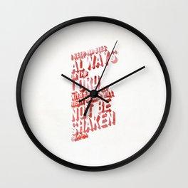 NOT SHAKEN Wall Clock