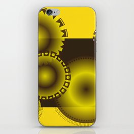 Brown and Yellow Circles iPhone Skin