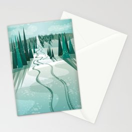 Winter Slope Stationery Cards