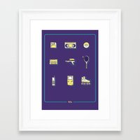 90s Framed Art Prints featuring 90s Stuff by POP Collective