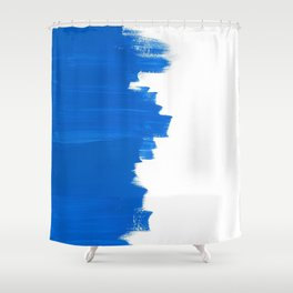 Blue Balance Shower Curtain