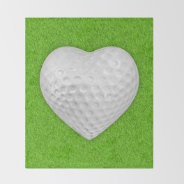 Golf ball heart / 3D render of heart shaped golf ball Throw Blanket