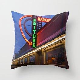 Local furniture shop Throw Pillow