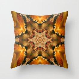 Autumn Star Mandala Throw Pillow
