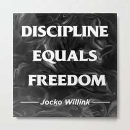 Discipline Metal Print