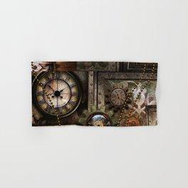 Steampunk, wonderful clockwork with gears Hand & Bath Towel
