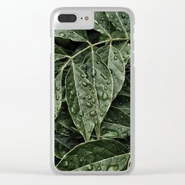 dewdrops on leaves #society6 #decor #buyart Clear iPhone Case