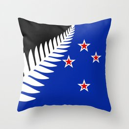 Proposed new national flag design for New Zealand Throw Pillow