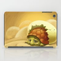 sea turtle iPad Cases featuring turtle by Antracit