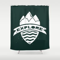 explore Shower Curtains featuring Explore by Dylan Morang