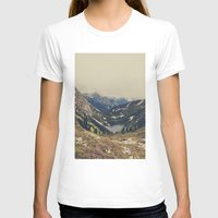 pink T-shirts featuring Mountain Flowers by Kurt Rahn
