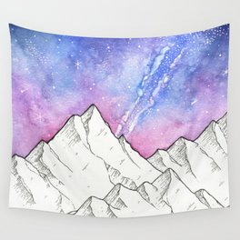 Mountains in the Evening Wall Tapestry