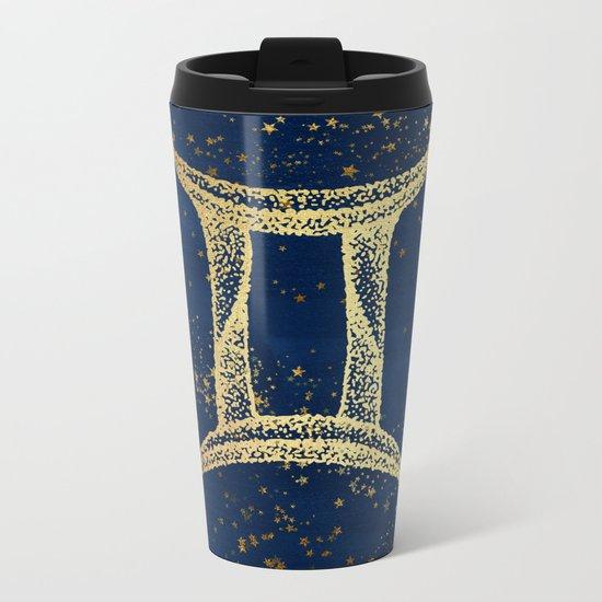 Gemini Zodiac Sign Metal Travel Mug