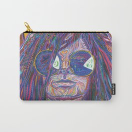 Psychedelic Sun Goddess Portrait Carry-All Pouch