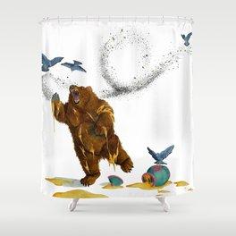 Honey Bear Shower Curtain