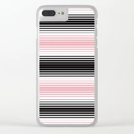 Deconstructed Serape in Pink Clear iPhone Case