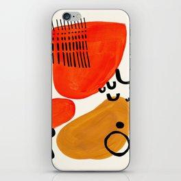 Fun Abstract Minimalist Mid Century Modern Yellow Ochre Orange Organic Shapes & Patterns iPhone Skin