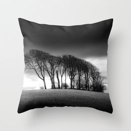 The Copse at Garngoch Common Throw Pillow
