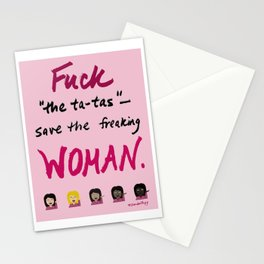 F*ck the Ta-Tas Stationery Cards