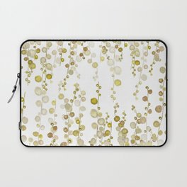 golden string of pearls watercolor Laptop Sleeve