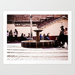 THE SOURCE OF THE CANDELARIA Art Print