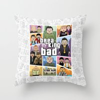 gta Throw Pillows featuring Lego Gta Mashup Breaking Bad by Akyanyme