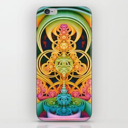Time Shell III. Colorful Abstract Render iPhone Skin