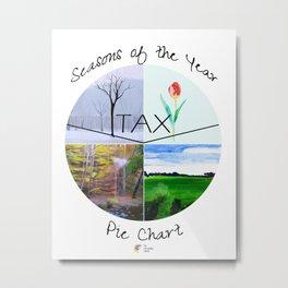 Seasons of the Year Pie Chart Metal Print
