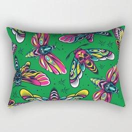 Skull Butterflies Rectangular Pillow
