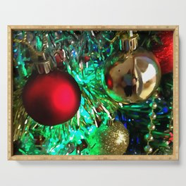 Baubles, Beads and Tinsel Holiday Decor Serving Tray