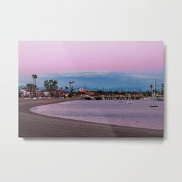Belmont Shore Bay Metal Print