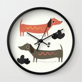 Wiener Dogs Wall Clock