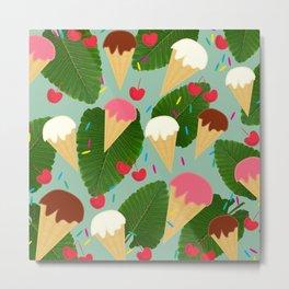 Tropical Ice Cream Metal Print