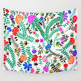 Mexican flowers pattern Wall Tapestry
