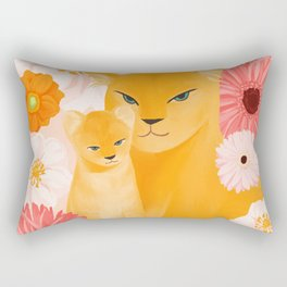 Mother Lion and cub II Rectangular Pillow