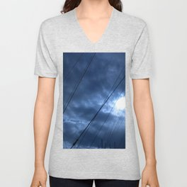 sunset and sailing Unisex V-Neck