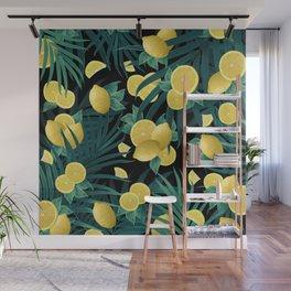 Summer Lemon Twist Jungle Night #1 #tropical #decor #art #society6 Wall Mural