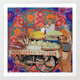 Fruit Seller Art Print