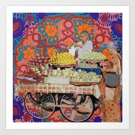 Fruit Seller Art Print